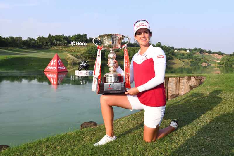 Christine Wolf winner of Hero Womens Indian Open 2019