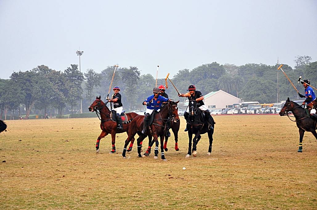 Delhiites Polo and Jindal Panther battle it out at the Jaipur Polo Grounds