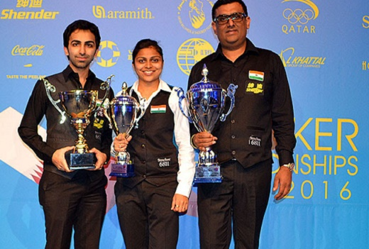 2016 IBSF World Snooker: Dharminder Lilly claims gold in Master's category, Advani bags bronze