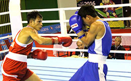 Devendro Singh trounced a hapless Velazquez Joselito of Mexico in the 49 kgs at 12th South Asian Games