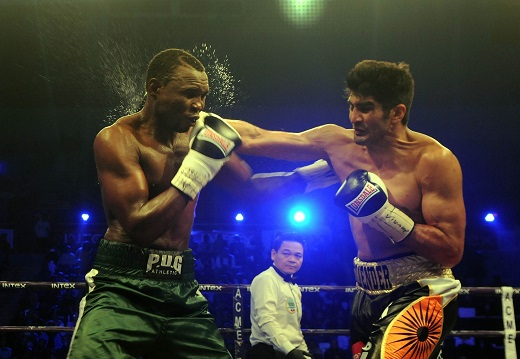 Vijender outpunches Cheka to retain WBO Asia Pacific Super Middleweight title