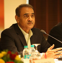 AIFF President Mr Praful Patel during the Media Interaction