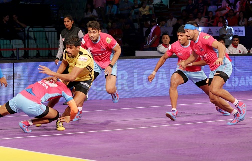 Pro Kabaddi League:Telugu Titans beat Jaipur Pink Panthers 35-23 to qualify for semi finals