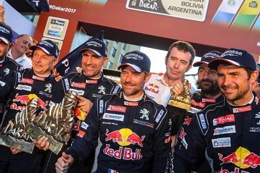 Sunderland, Peterhansel crowned champions at Dakar Rally
