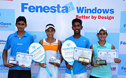Boys Under 16 Runners up Parishit SomaniGirls Under 16 Winner Sabhyata NihalaniBoys Under 16 Winner Nitin K Sinha and Girls Under 16 Runners up Akanksha Bhan