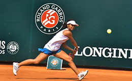 Mahak in action at Rendez Vous Roland Garros
