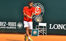 Paramveer against Parikshit at Rendez Vous à Roland Garros in partnership with Longines